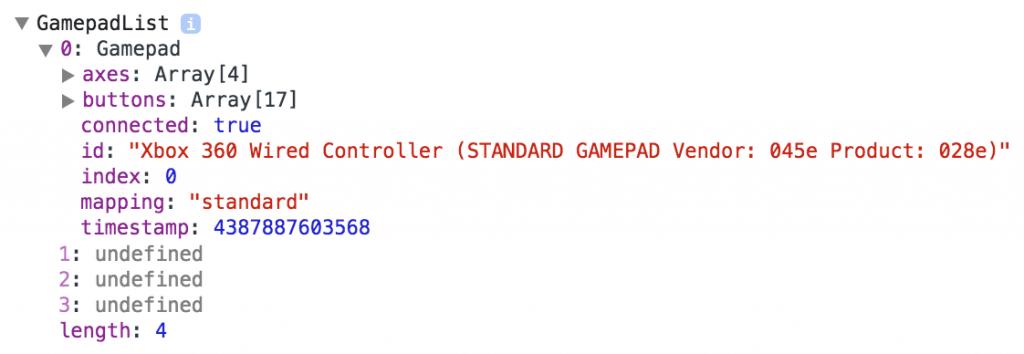 GamepadList Object