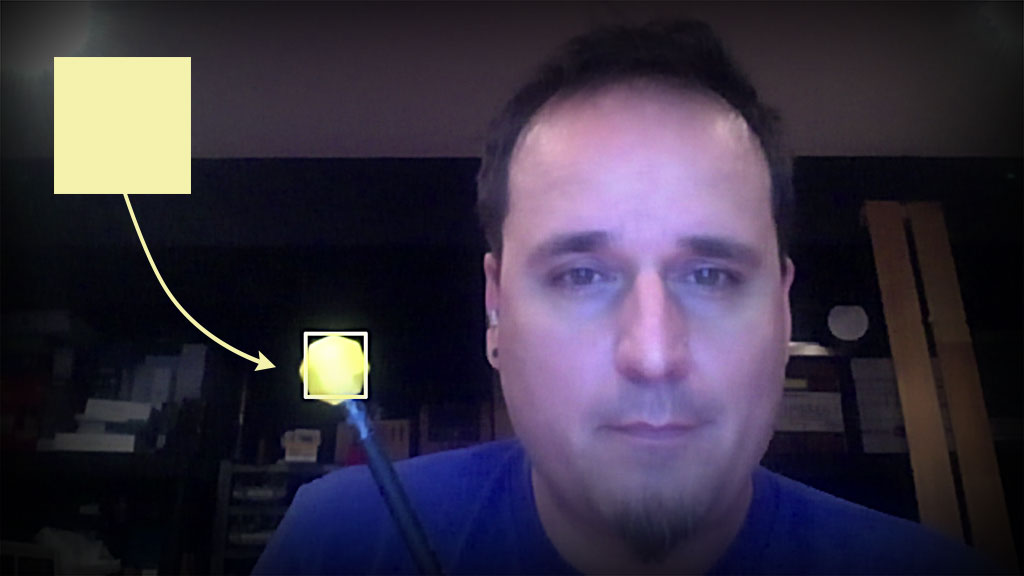 Tracking Color Blobs in Webcam Feed Using Tracking js - TangibleJS